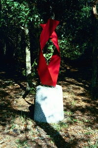 Red Embrace sculpture