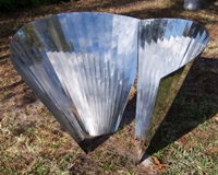 Vertical Cones Sculpture