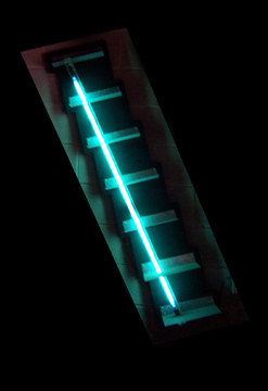 Neon Steps Sculpture